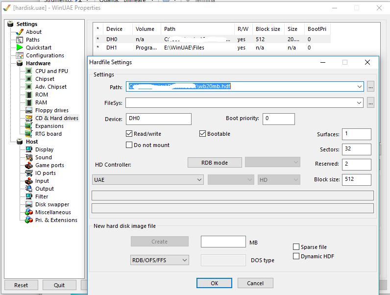 Come configurare un hard disk Amiga su WinUAE e Raspberry Pi 2
